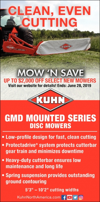 Mow 'N Save Up to $2,000 OFF Select New Mowers